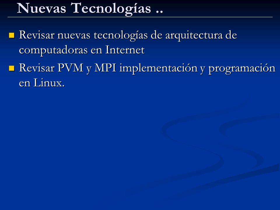 Nuevas Tecnologías.. Revisar nuevas tecnologías de arquitectura de computadoras en Internet Revisar nuevas tecnologías de arquitectura de computadoras