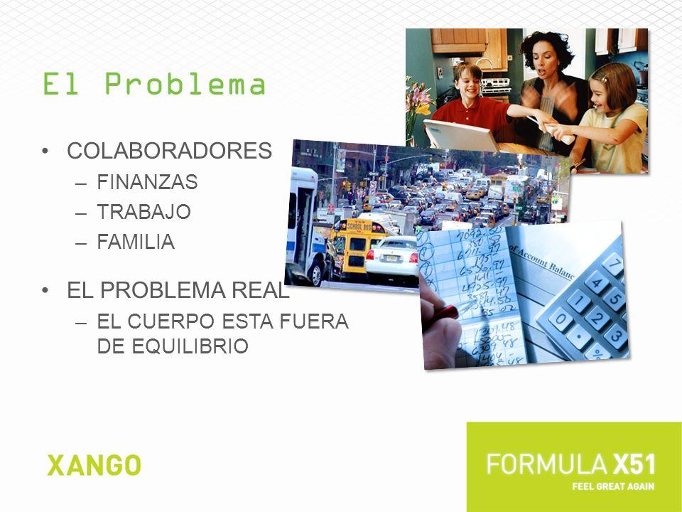 El Problema COLABORADORES –FINANZAS –TRABAJO –FAMILIA EL PROBLEMA REAL –EL CUERPO ESTA FUERA DE EQUILIBRIO