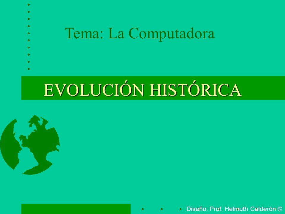 EVOLUCIÓN HISTÓRICA Tema: La Computadora Diseño: Prof. Helmuth Calderón ©
