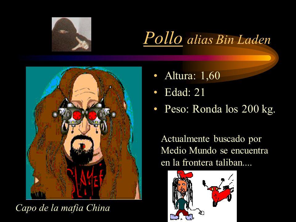 CALABAZA alias (Látigo COYI) Altura: 1,00 m Peso: 125 kg.