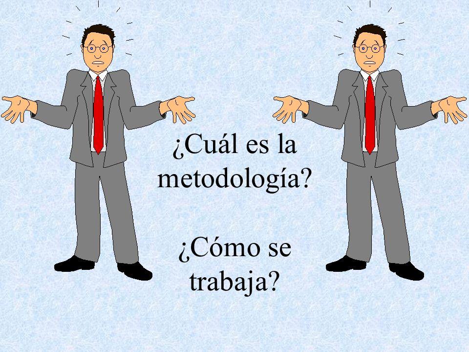 ¿Cuál es la metodología? ¿Cómo se trabaja?