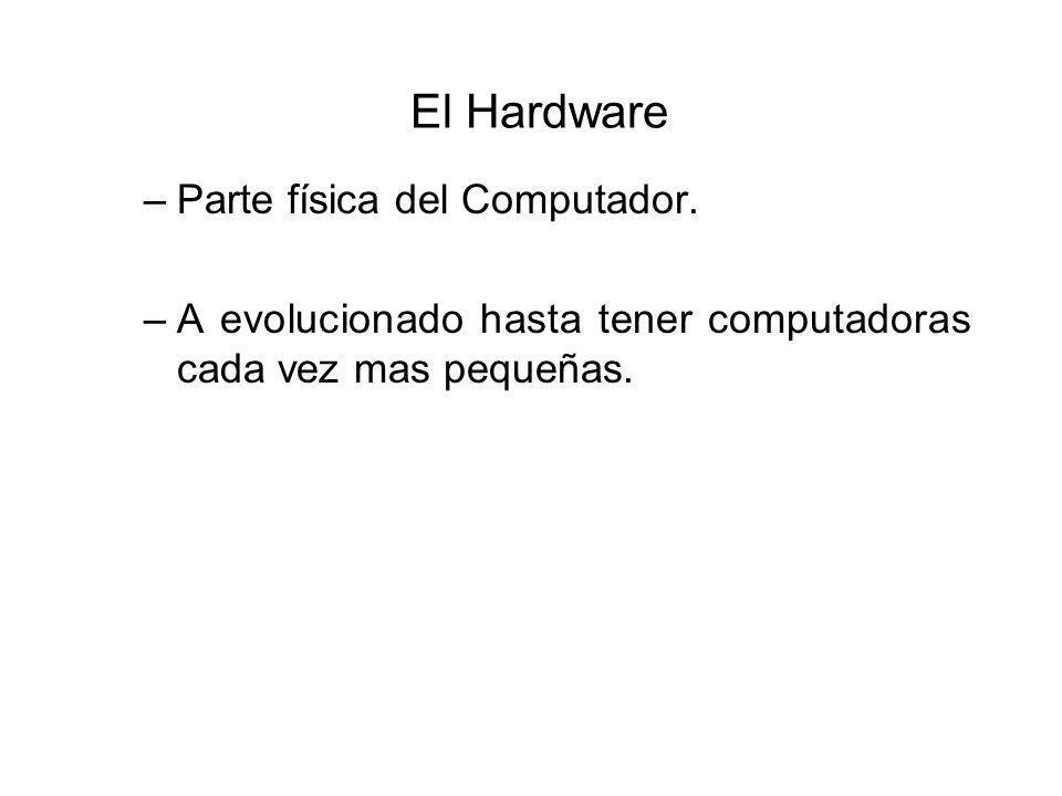 El Hardware –Parte física del Computador.