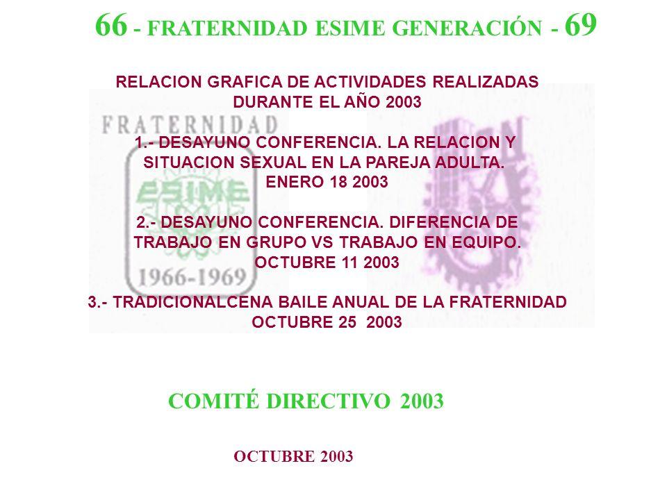 RELACION GRAFICA DE ACTIVIDADES REALIZADAS DURANTE EL AÑO 2003 1.- DESAYUNO CONFERENCIA.
