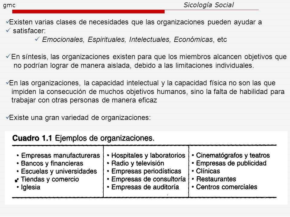2 Existen varias clases de necesidades que las organizaciones pueden ayudar a satisfacer: Emocionales, Espirituales, Intelectuales, Económicas, etc En