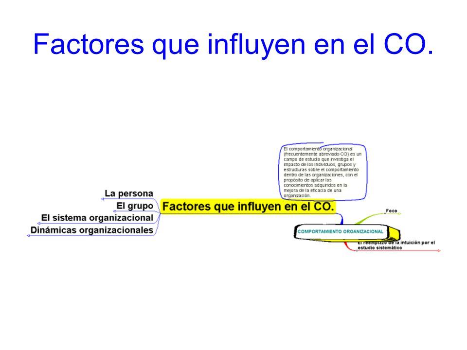 Factores que influyen en el CO.