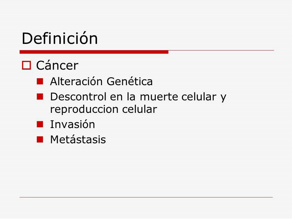 Definición Marcadores Tumorales (marcadores de cáncer o Biomarcadores): Son sustancias presentes al diagnóstico, producidas por el tumor mismo o producidas por el huésped en respuesta al tumor que puede ser medido en sangre, tejido o secreciones y que puede ser utilizado para diferenciar tejido normal de tumor.