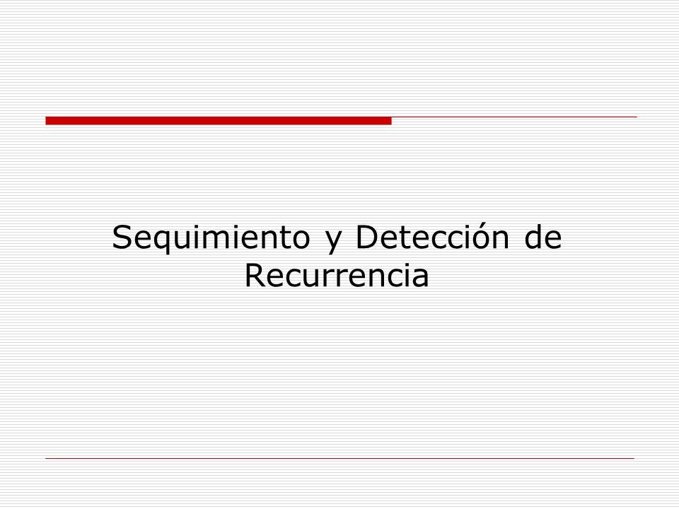 Sequimiento y Detección de Recurrencia