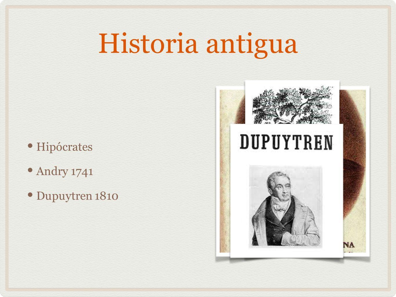 Historia antigua Hipócrates Andry 1741 Dupuytren 1810