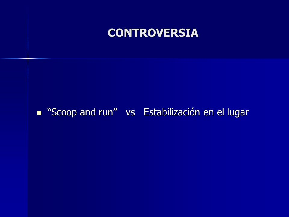CONTROVERSIA Scoop and run vs Estabilización en el lugar Scoop and run vs Estabilización en el lugar