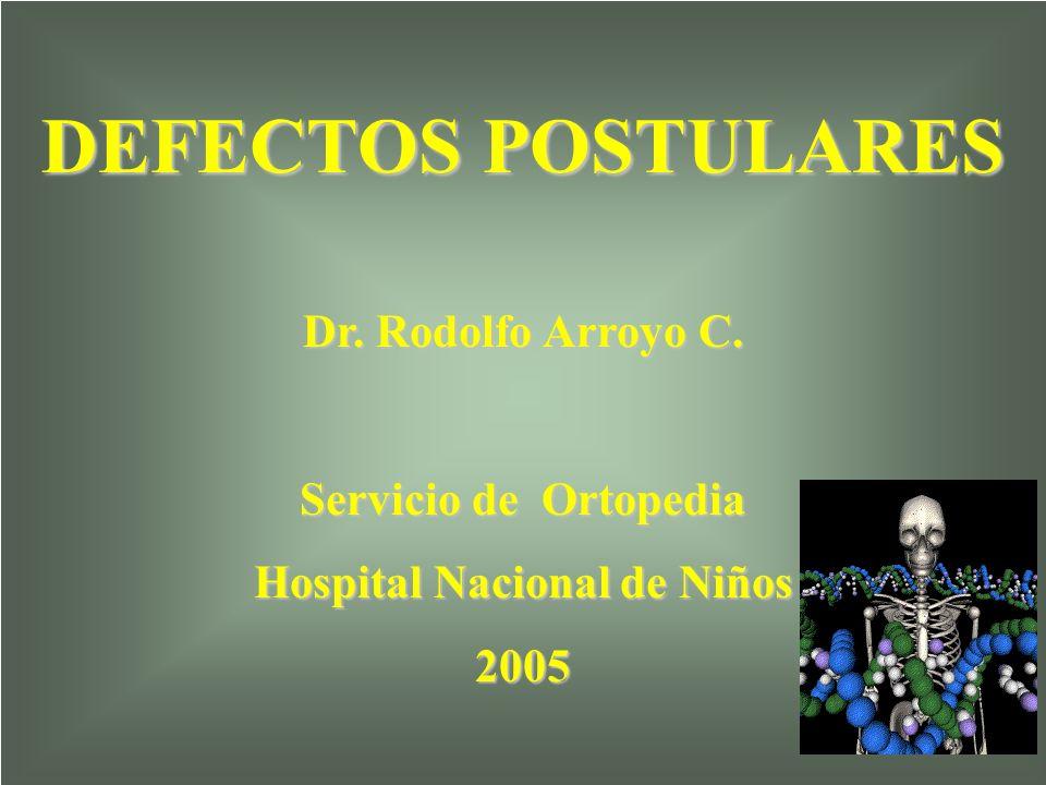DEFECTOS POSTULARES Dr. Rodolfo Arroyo C. Servicio de Ortopedia Hospital Nacional de Niños 2005