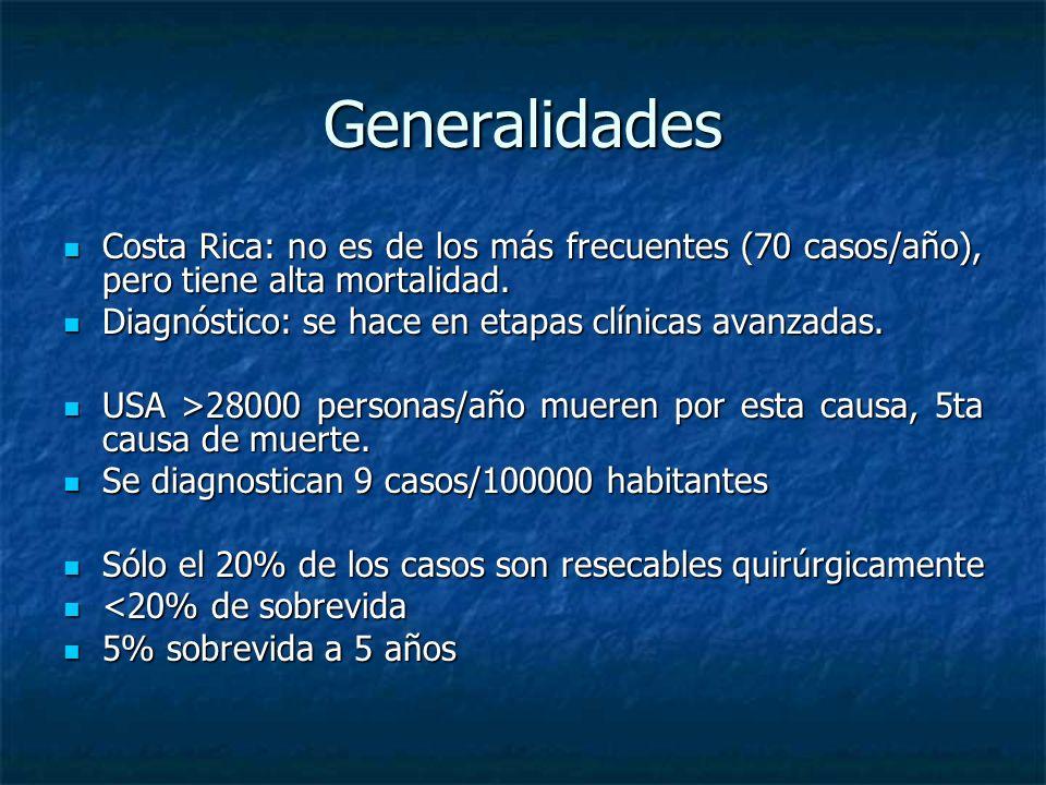 Generalidades Costa Rica: no es de los más frecuentes (70 casos/año), pero tiene alta mortalidad.