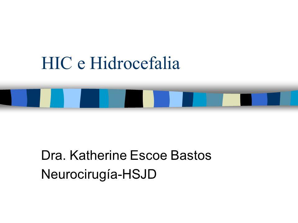 HIC e Hidrocefalia Dra. Katherine Escoe Bastos Neurocirugía-HSJD