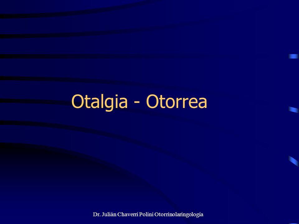 Dr. Julián Chaverri Polini Otorrinolaringología Otalgia - Otorrea