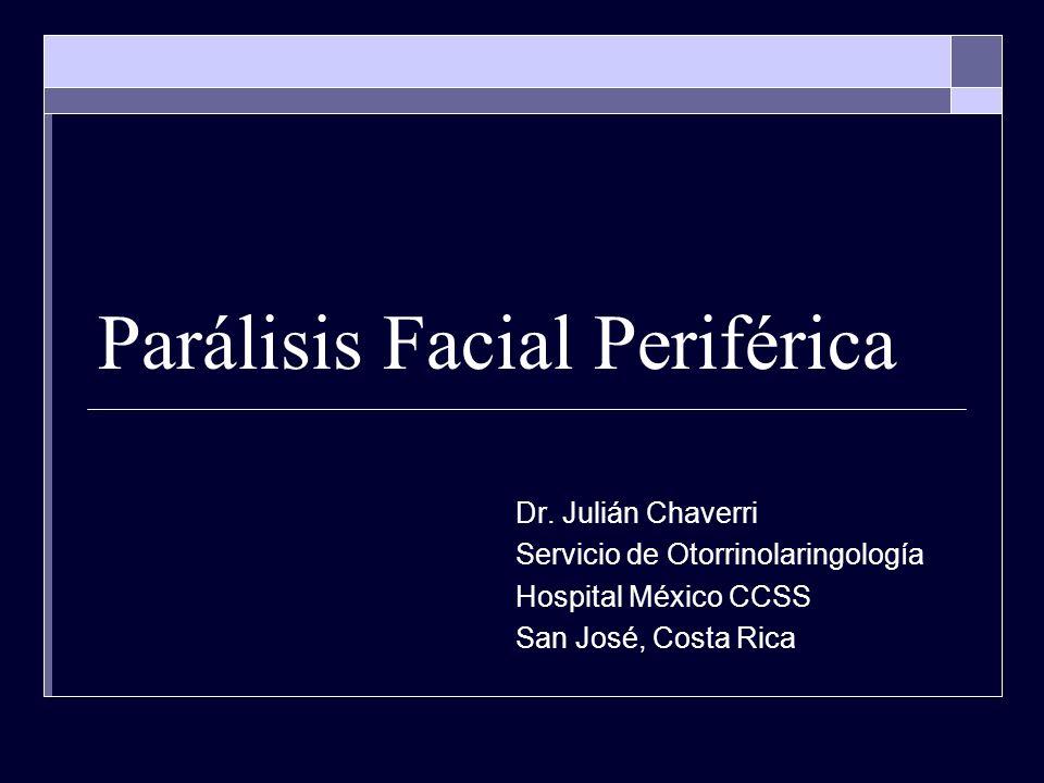 DEFINICIÓN la parálisis facial periférica es una afección del nervio facial que produce la ausencia de movimientos de los músculos de la cara del lado afectado.