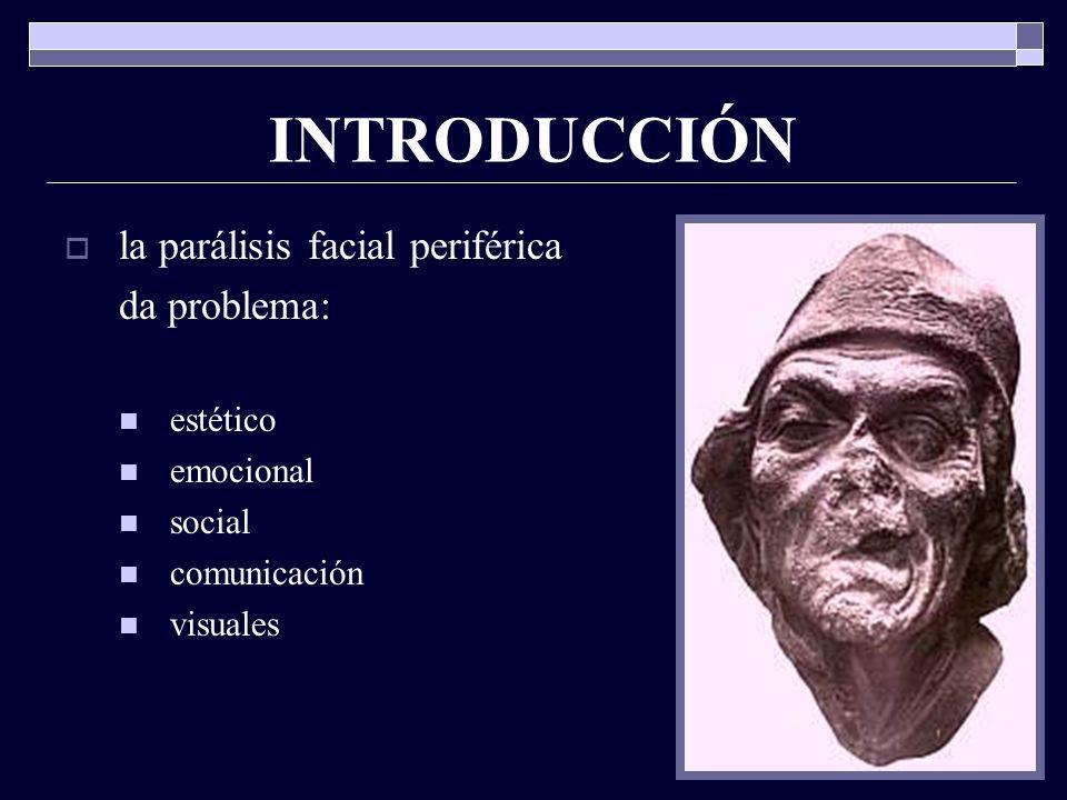 ORIGEN origen real: núcleo del facial (motora) núcleo lácrimo muco nasal (vegetativo) núcleo salivar superior (vegetativo) ganglio geniculado (sensitivo, vegetativo) origen aparente: surco bulbo protuberancial