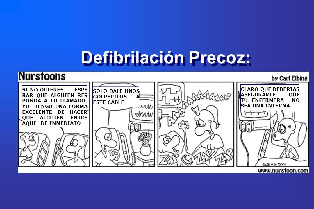 Defibrilación Precoz: SI NO QUIERES ESPE RAR QUE ALGUIEN RES PONDA A TU LLAMADO, YO TENGO UNA FORMA EXCELENTE DE HACER QUE ALGUIEN ENTRE AQUÍ DE INMED