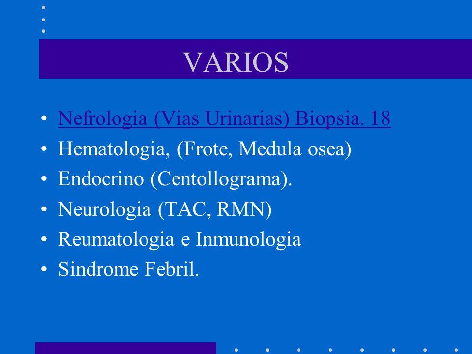 VARIOS Nefrologia (Vias Urinarias) Biopsia.