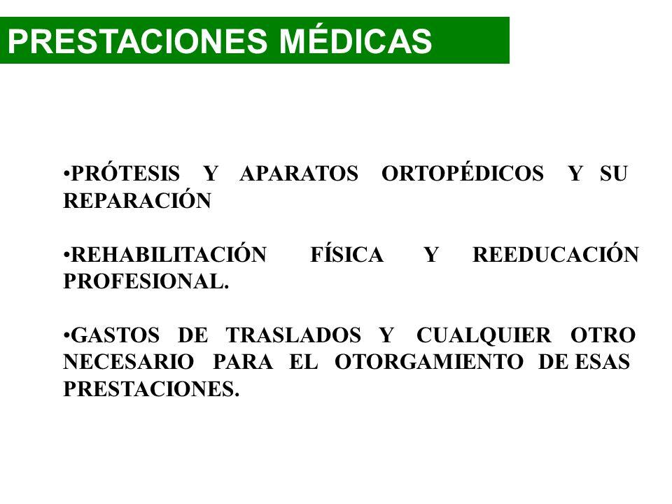 PRESTACIONES MÉDICAS ATENCIÓN MÉDICA, QUIRÚRGICA Y DENTAL EN ESTABLECIMIENTOS EXTERNOS O AL DOMICILIO HOSPITALIZACIÓN. MEDICAMENTOS Y PRODUCTOS FARMAC
