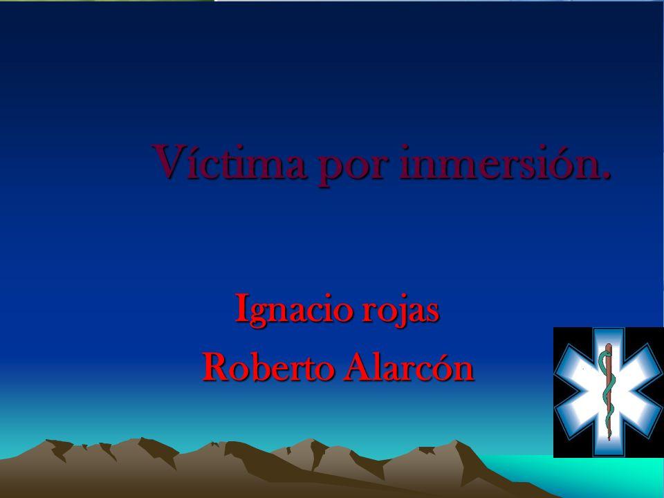 Víctima por inmersión. Ignacio rojas Roberto Alarcón