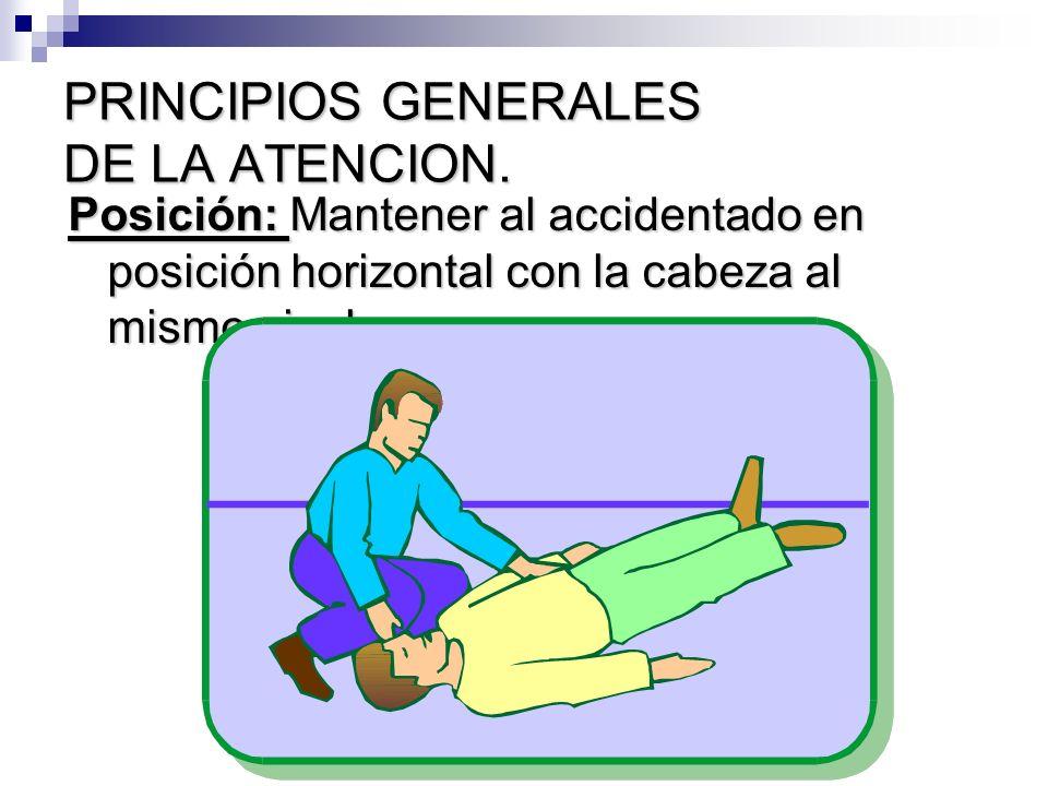 PRINCIPIOS GENERALES DE LA ATENCION.