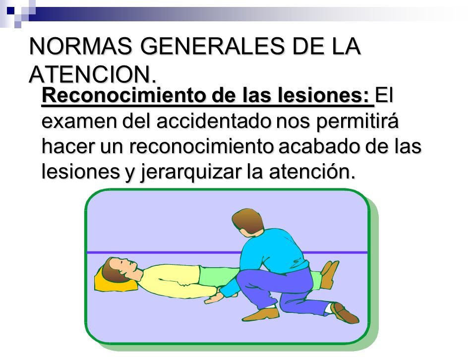 NORMAS GENERALES DE LA ATENCION.