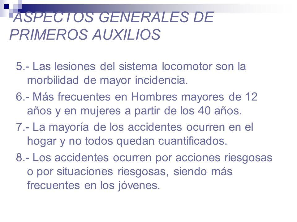 ASPECTOS GENERALES DE PRIMEROS AUXILIOS 9.- Los accidentes del trabajo en su mayoría ocurren en la pequeña minería.