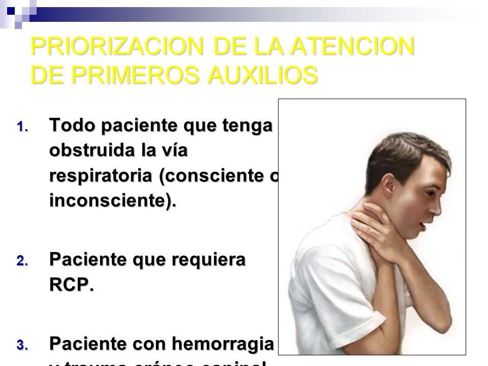 PRIORIZACION DE LA ATENCION DE PRIMEROS AUXILIOS 4.