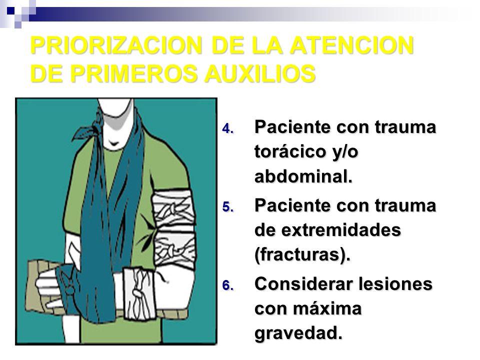 TRANSPORTE DE UN ACCIDENTADO No movilizar sin precisar las lesiones.