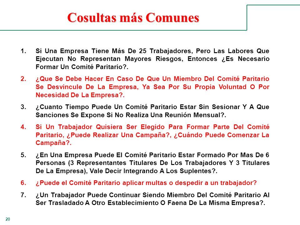 20 Cosultas más Comunes 1.