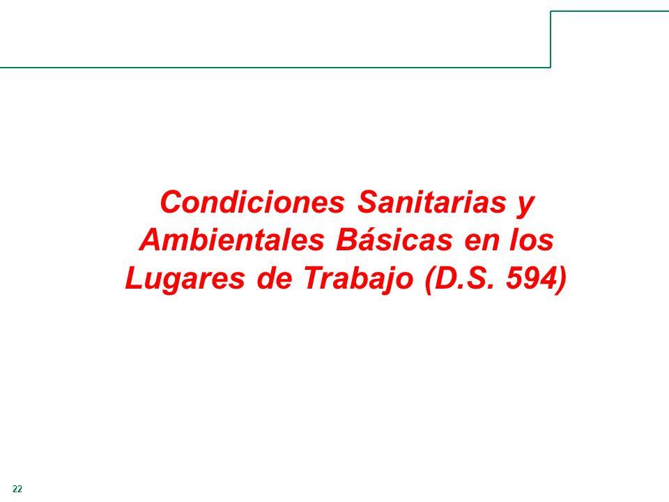 22 Condiciones Sanitarias y Ambientales Básicas en los Lugares de Trabajo (D.S. 594)