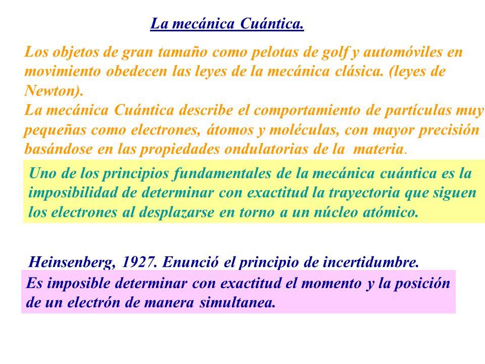 La mecánica Cuántica. Los objetos de gran tamaño como pelotas de golf y automóviles en movimiento obedecen las leyes de la mecánica clásica. (leyes de
