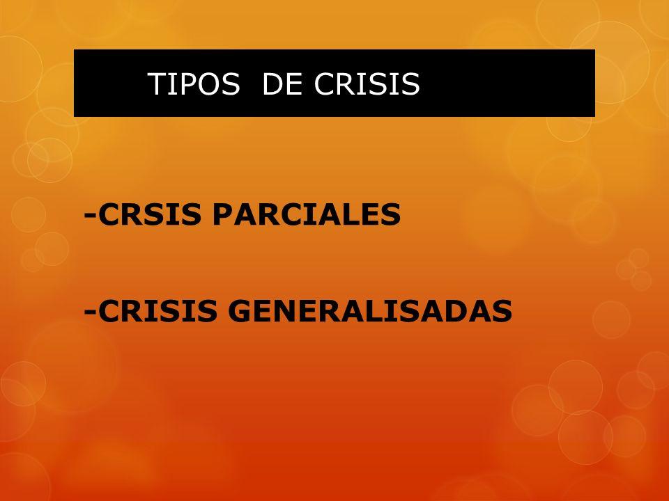TIPOS DE CRISIS -CRSIS PARCIALES -CRISIS GENERALISADAS