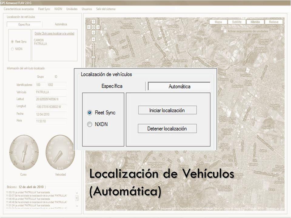 Localización de Vehículos (Específica, Automática y via PTT)
