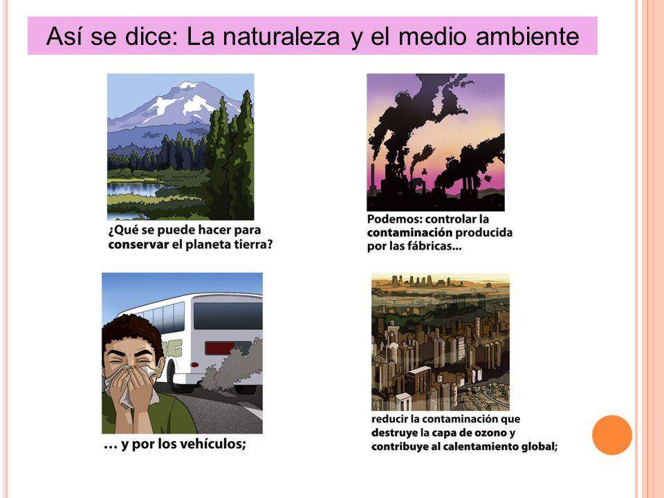Así se dice: La naturaleza y el medio ambiente