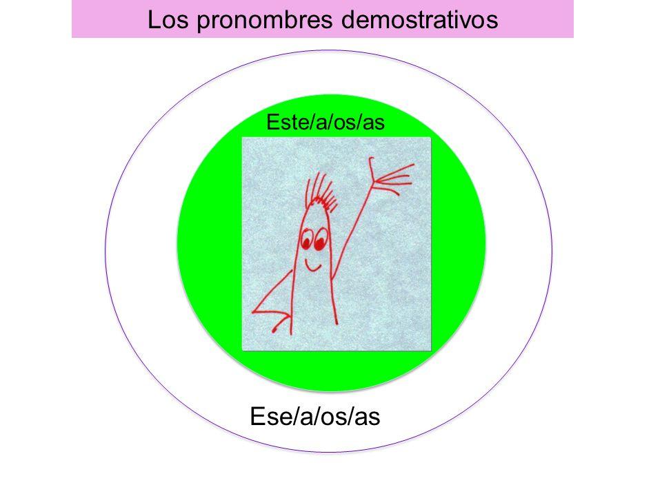 Los pronombres demostrativos Este/a/os/as Ese/a/os/as