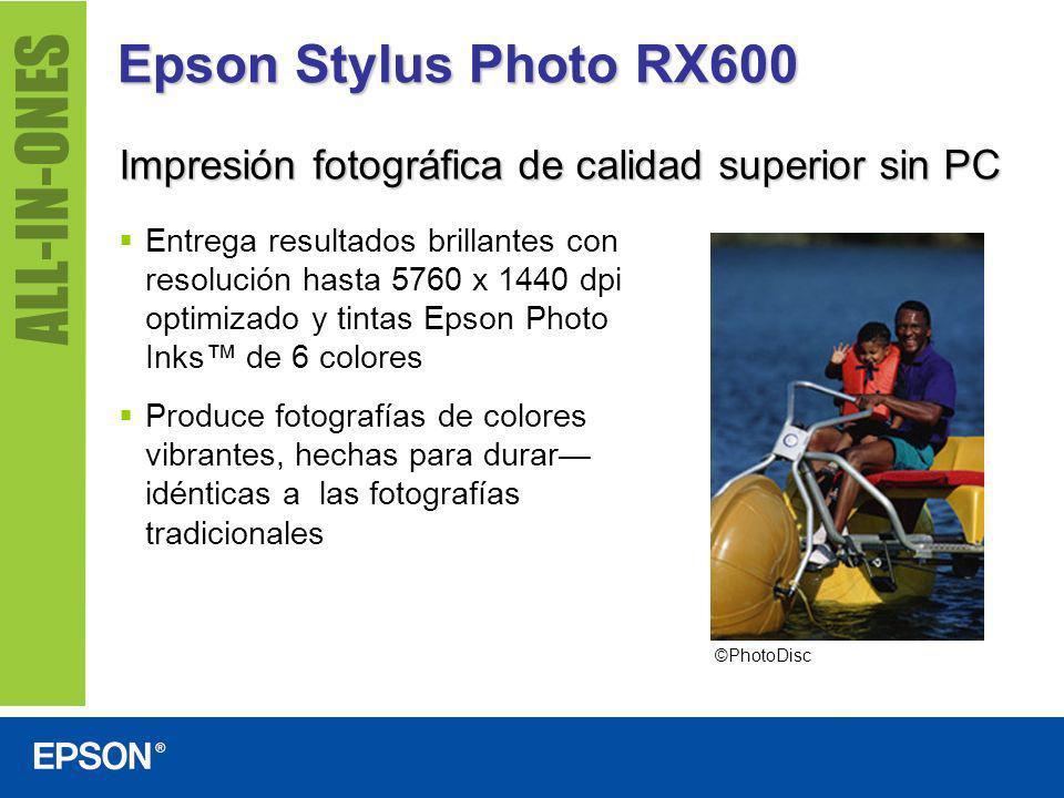 Epson Stylus Photo RX600 Impresión fotográfica de calidad superior sin PC Entrega resultados brillantes con resolución hasta 5760 x 1440 dpi optimizad