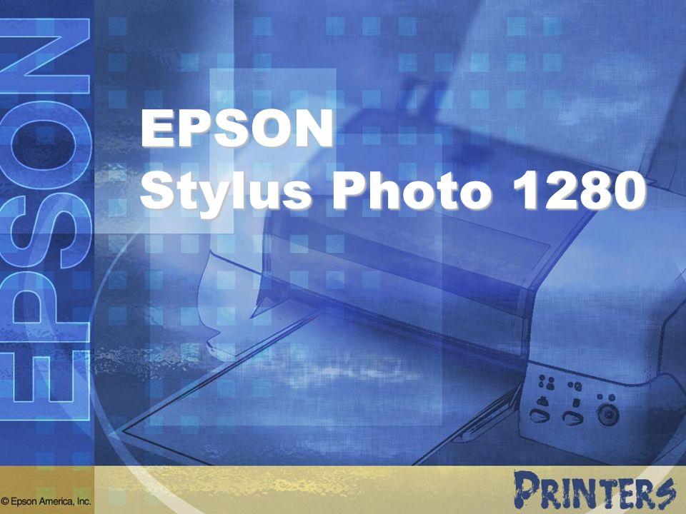 Posicionamiento de la Competencia AtributosEPSON®Stylus Color 1280 Hewlett-Packard® CP1700 Canon® i9100 Calidad de Impresión: Método de Impresión Resolución máxima Tamaño de gota de tinta Paleta de tintas Densidad óptica Micro Piezo 2880 x 720 dpi 4 picolitros 6 colores con negro fotográfico optimizado 2.4 Termal 4800 x 1200 dpi No indicado 3 colores sólo para fotos No indicado Termal 4800 x 1200 dpi 4 picolitros 6 colores CMYKcm 2.1 Flexibilidad Fotos sin bordes Medios en rollo P.I.M.