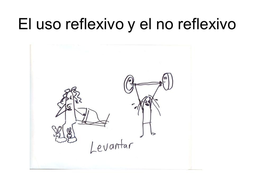 El uso reflexivo y el no reflexivo