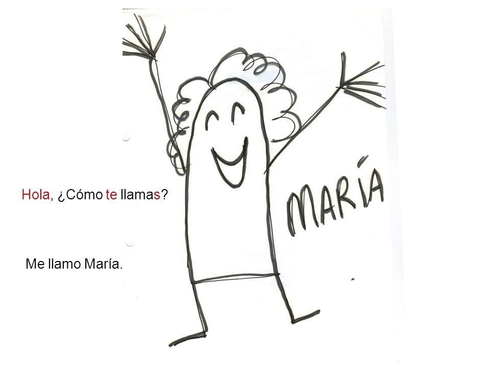Me llamo María. Hola, ¿Cómo te llamas?