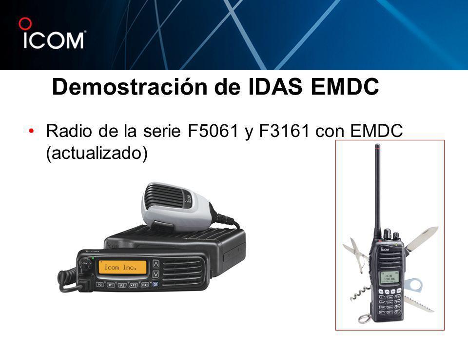 Radio de la serie F5061 y F3161 con EMDC (actualizado) Demostración de IDAS EMDC