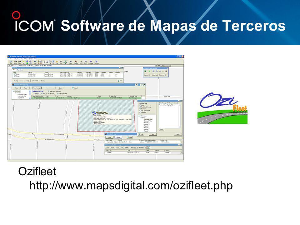 Software de Mapas de Terceros Ozifleet http://www.mapsdigital.com/ozifleet.php