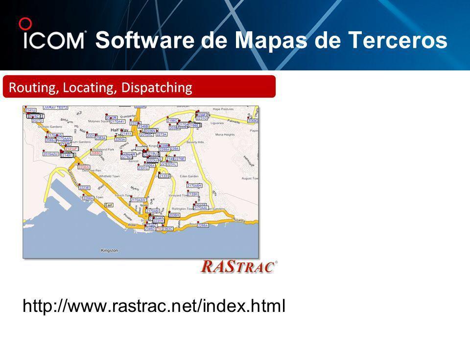http://www.rastrac.net/index.html Software de Mapas de Terceros