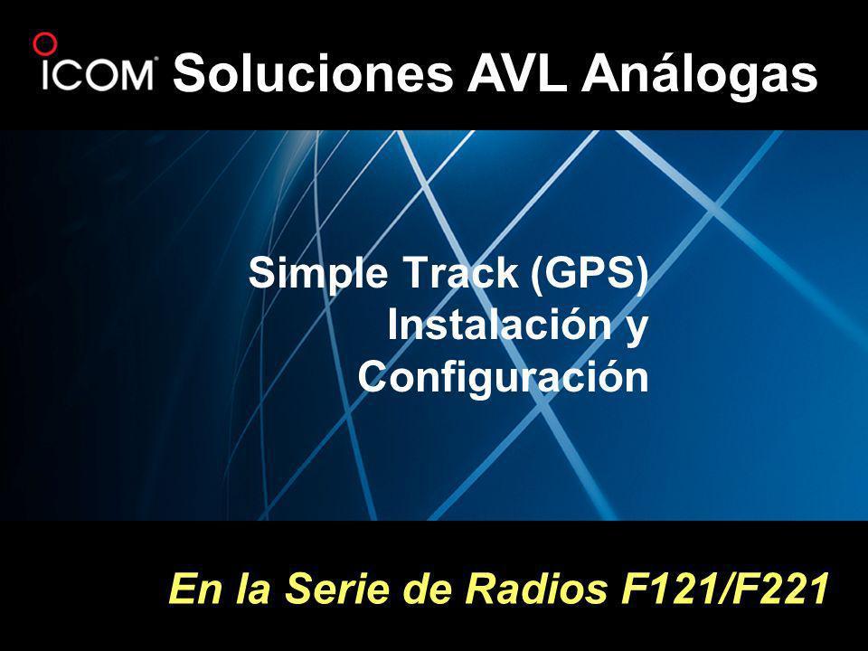 Soluciones AVL Análogas Simple Track (GPS) Instalación y Configuración