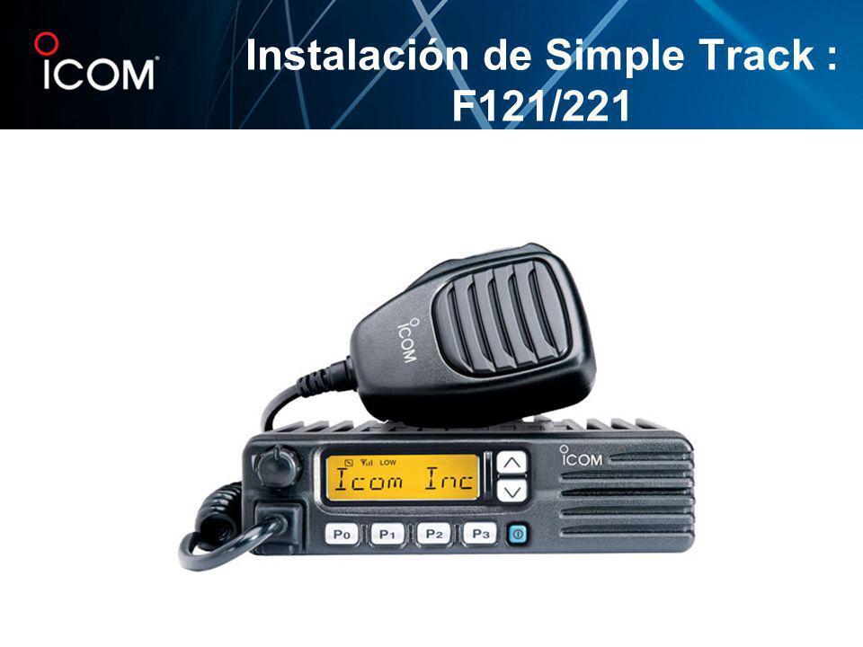 Instalación de Simple Track : F121/221