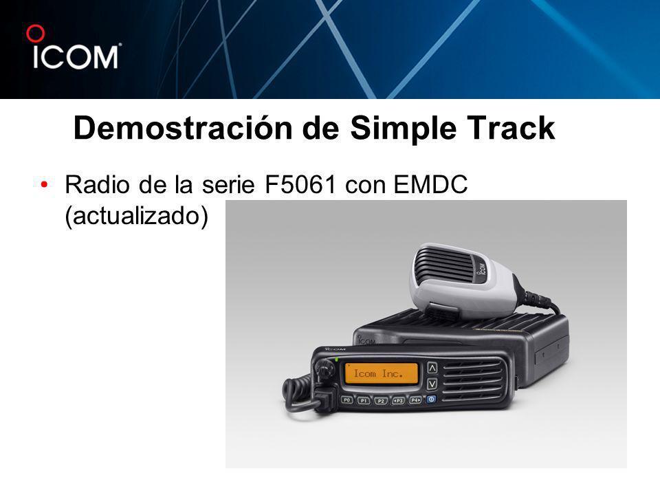 Radio de la serie F5061 con EMDC (actualizado) Demostración de Simple Track