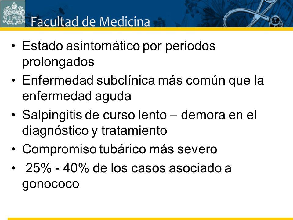 Facultad de Medicina Carrera 7 No. 40-62 Hospital Universitario San Ignacio Bogotá COLOMBIA Estado asintomático por periodos prolongados Enfermedad su