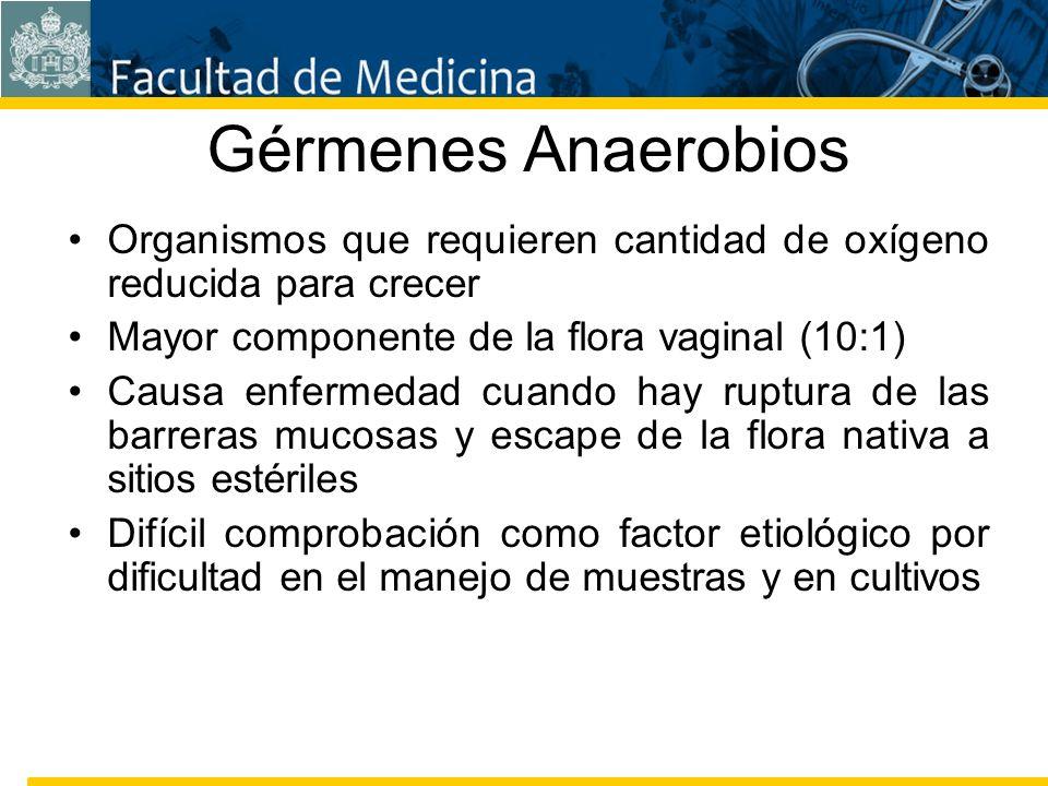 Facultad de Medicina Carrera 7 No. 40-62 Hospital Universitario San Ignacio Bogotá COLOMBIA Gérmenes Anaerobios Organismos que requieren cantidad de o