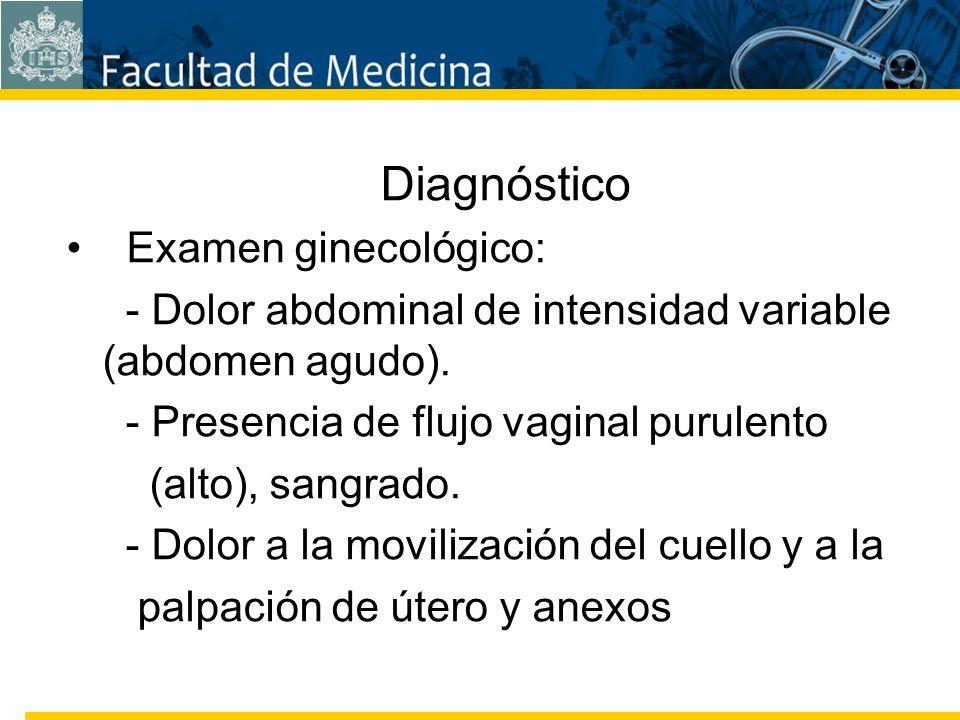 Facultad de Medicina Carrera 7 No. 40-62 Hospital Universitario San Ignacio Bogotá COLOMBIA Diagnóstico Examen ginecológico: - Dolor abdominal de inte