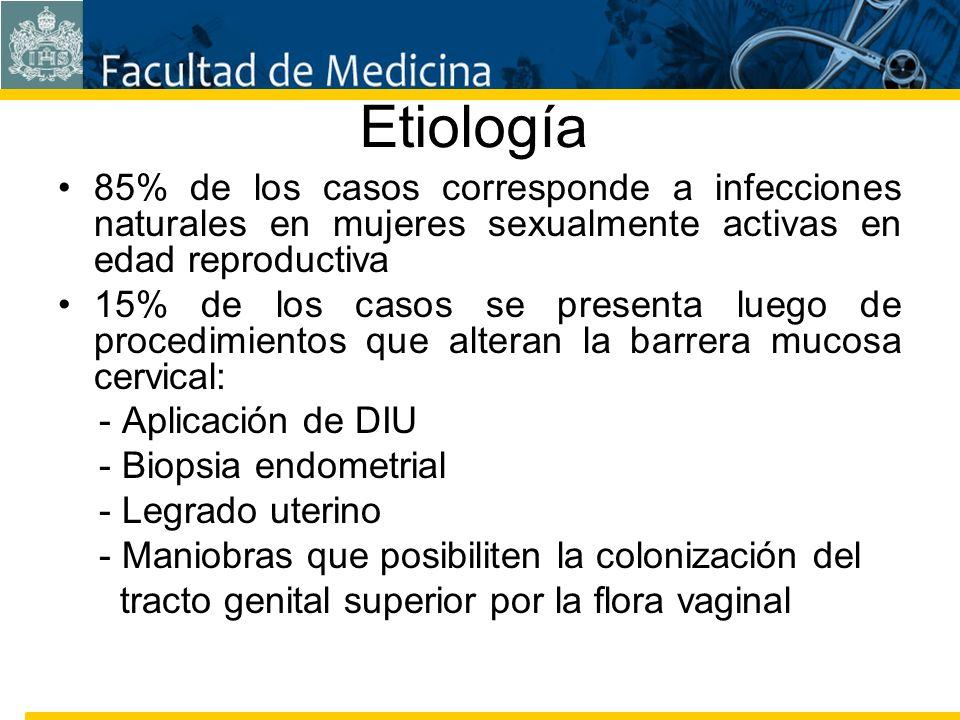Facultad de Medicina Carrera 7 No. 40-62 Hospital Universitario San Ignacio Bogotá COLOMBIA Etiología 85% de los casos corresponde a infecciones natur