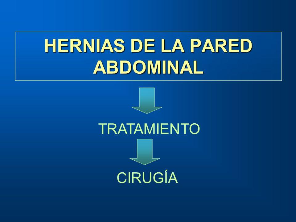 HERNIAS DE LA PARED ABDOMINAL TRATAMIENTO CIRUGÍA